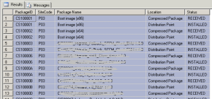 Packages are succesfully extracted.