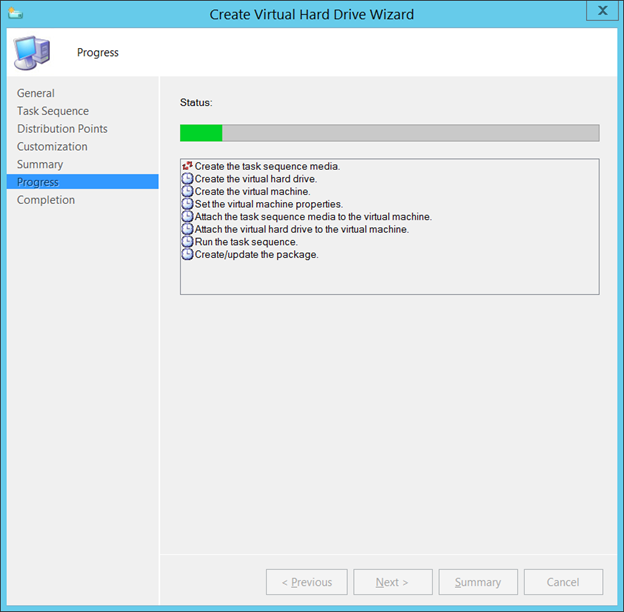 How to: Create and deploy VHD's with Configuration Manager