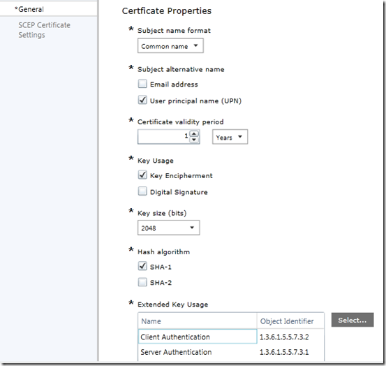 Part 3 – Deploy certificates to mobile devices using