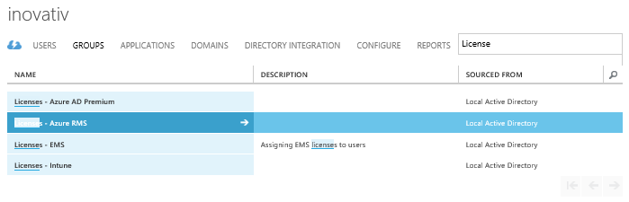 Assign EMS licenses based on Local Active Directory Group