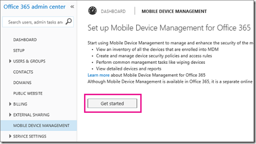 Office 365 w MDM