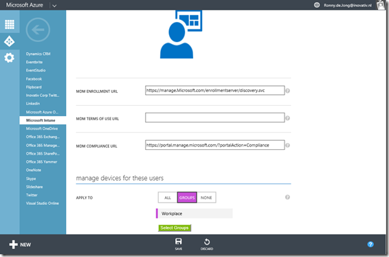 Azure AD Intune Enrollment Integration