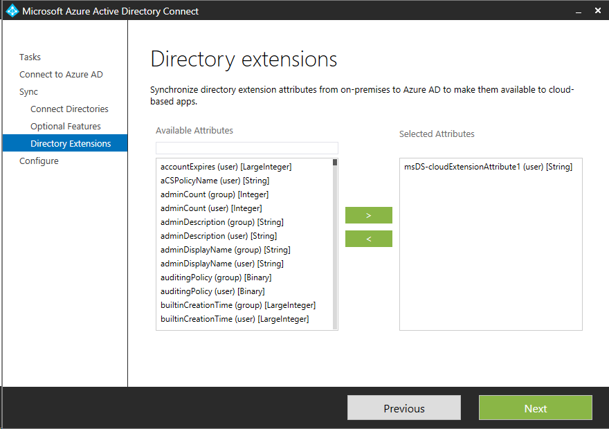 Use Custom Attributes for automatically populate Azure AD