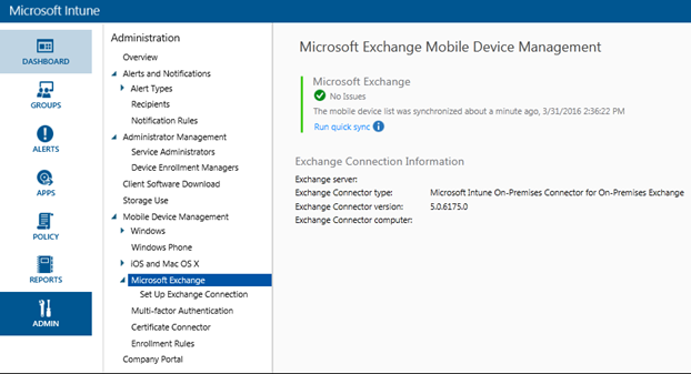 Updated Microsoft Intune On-premises Connector for On