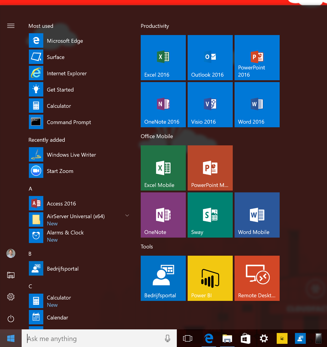 Customize Windows 10 Start Menu With Configuration Manager