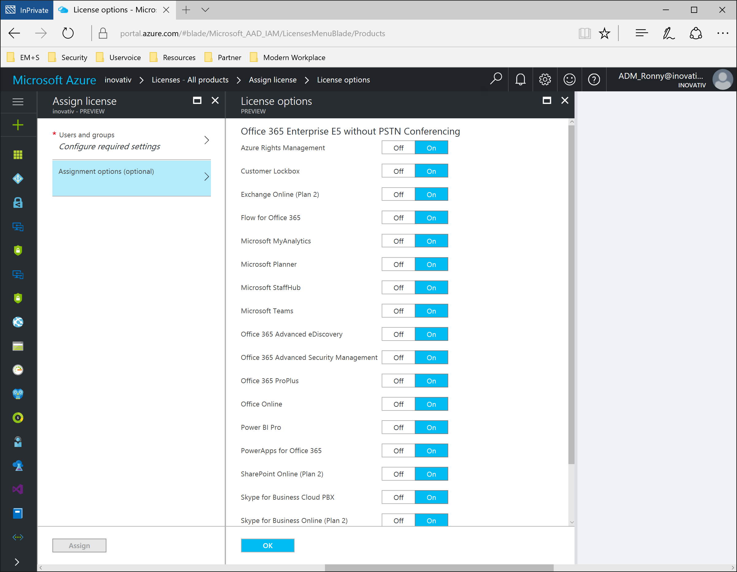 One license solution rule them all: Azure AD Group Based