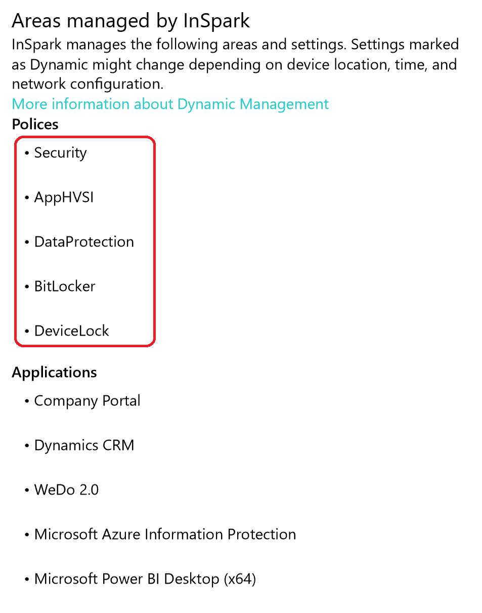 Improved Management Profile GUI