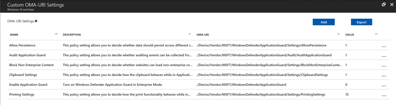 Microsoft Intune Custom Policy