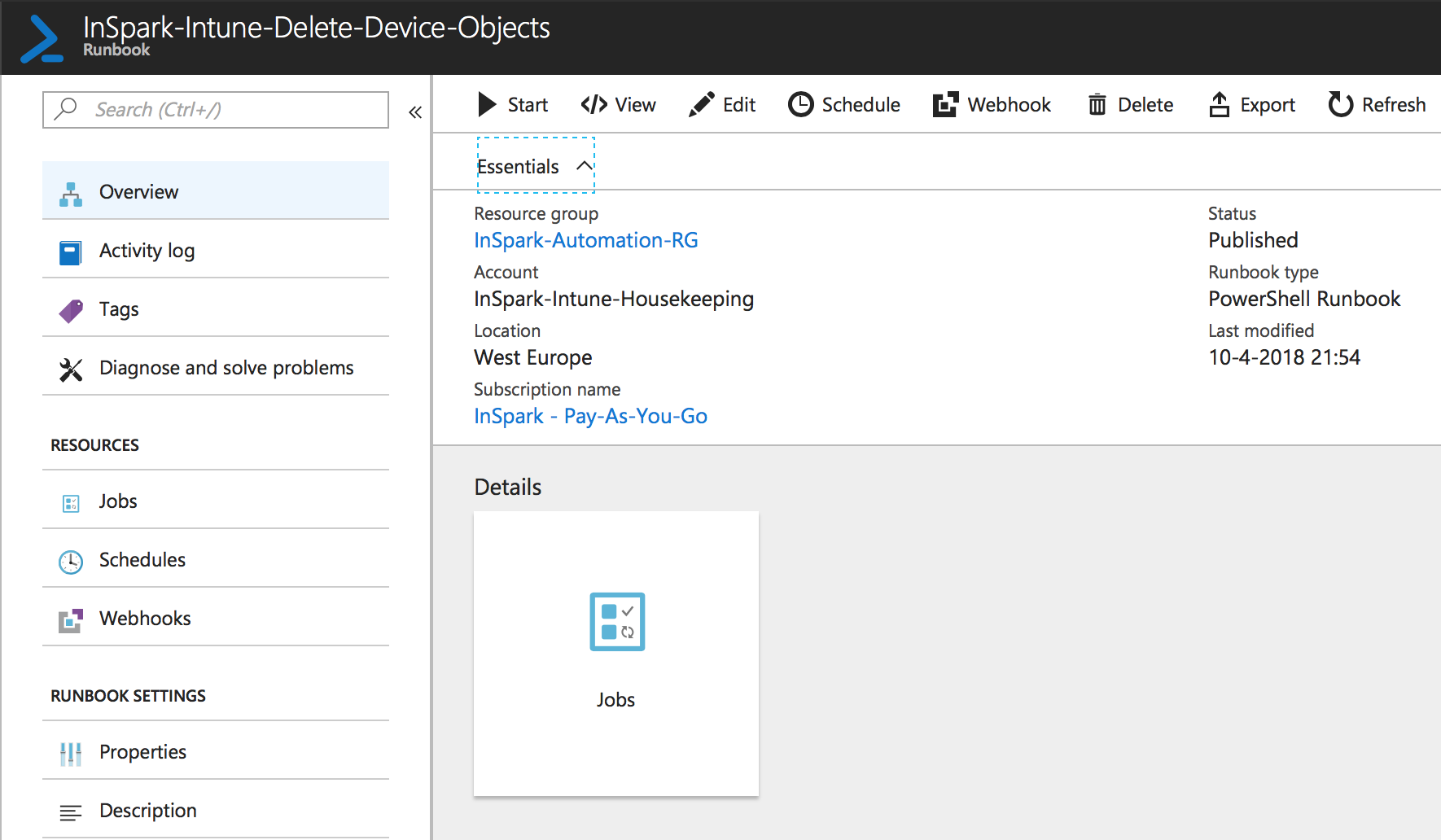 Keep your Microsoft Intune tenant clean and tidy /w Azure Automation