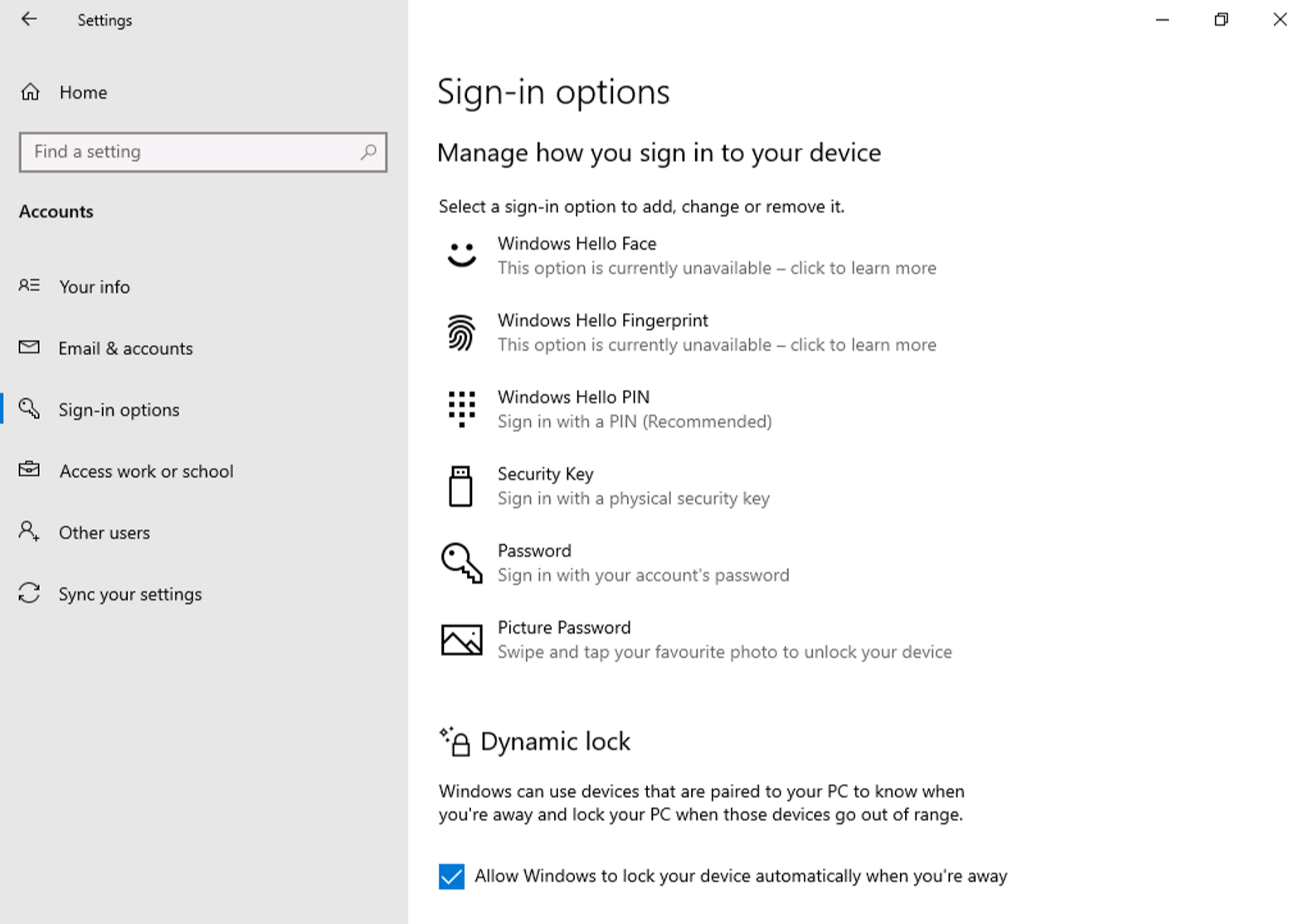 Moving away from passwords with Windows 10, Windows Hello