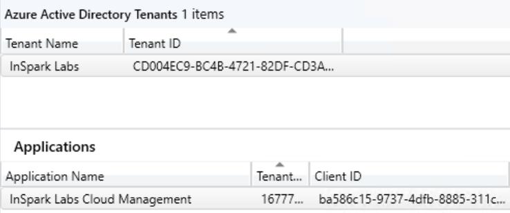 """A """" to 丨 y n 1 n  Tenant Name  lnSpark Labs  Applications  Application N  Tenant  〔 D004EC9- 4 4 1 20 : …  lnSpark Labs 08d M """" ~ ,  T 1 """" t …  16777m  15 一 97r 一 4dfb 孓 31k …"""
